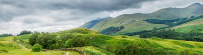 paysage panoramique: les highland en écosse, west highland way km70
