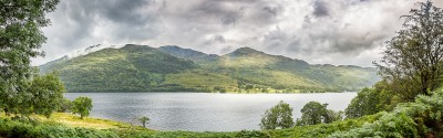 Ecosse, west highland way, vue panoramique sur le Loch Lomond