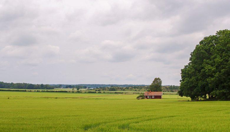 Une maison en Suède croisé lors d'une pause en vélo.