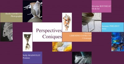 perspectives coniques, flyer verso
