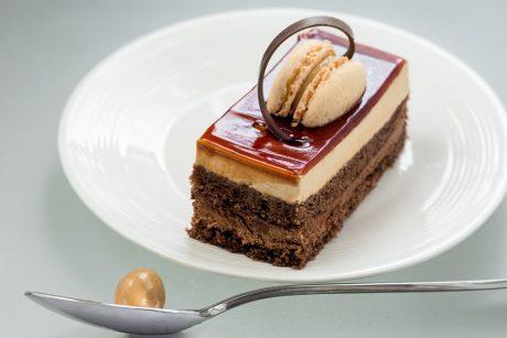 Gateau chocolat et macaron